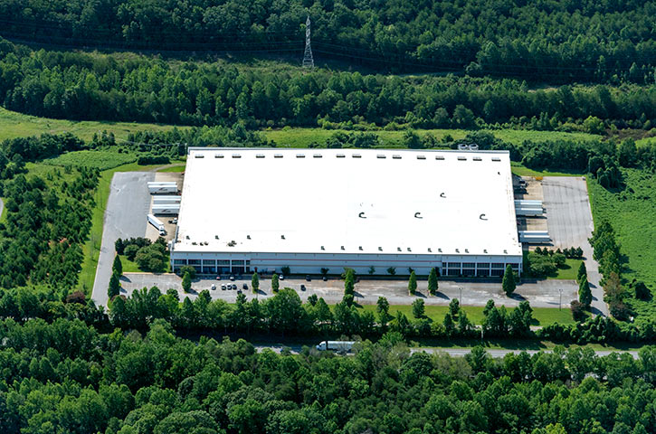 Aerial of 293 Industrial Drive in Kings Mountain, NC