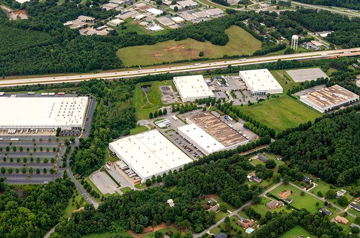 Aerial of 310 John Martin Road in Spartanburg, SC