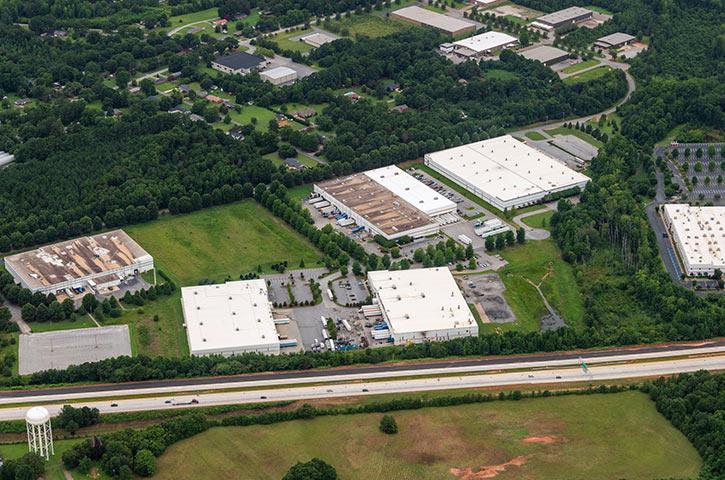 Aerial of 320 John Martin Road in Spartanburg, SC