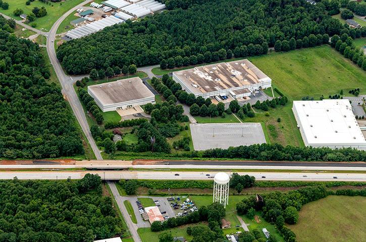 Aerial of 404 Centura Court in Spartanburg, SC