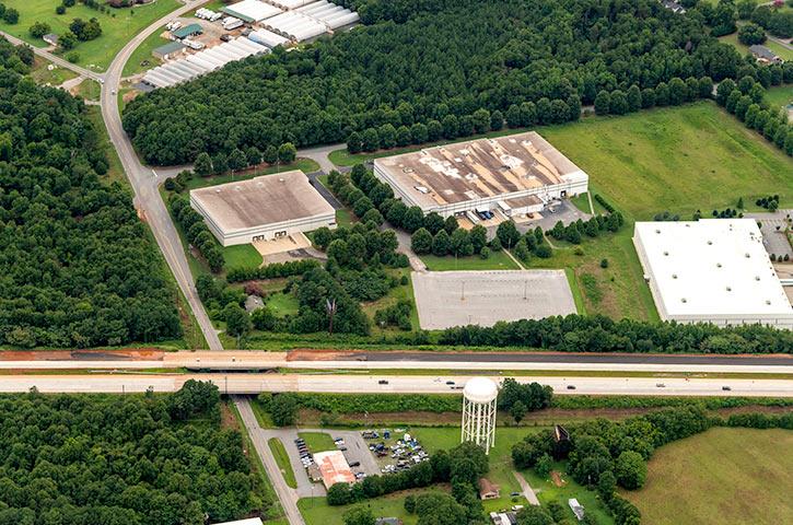 Aerial of 405 Centura Court in Spartanburg, SC