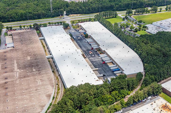 Aerial of 6047 Fulton Industrial Boulevard SW in Atlanta, GA