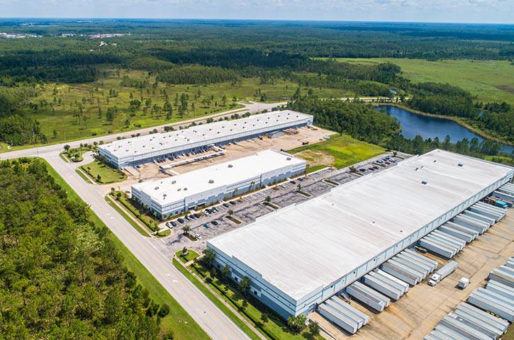 Aerial of 8601 Transport Drive in Orlando, FL