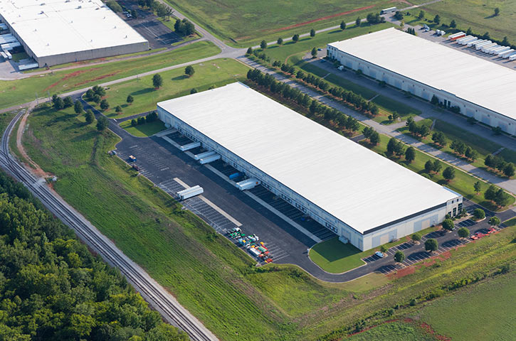Aerial of Airport Distribution Center in Huntsville, AL