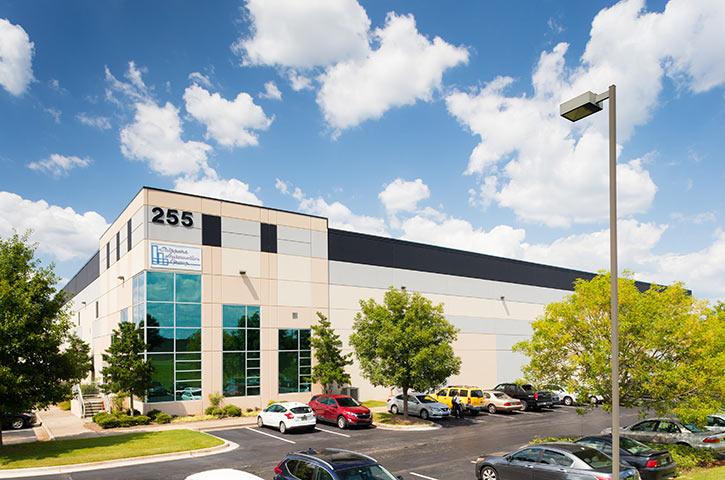Exterior of Airport Distribution Center in Huntsville, AL