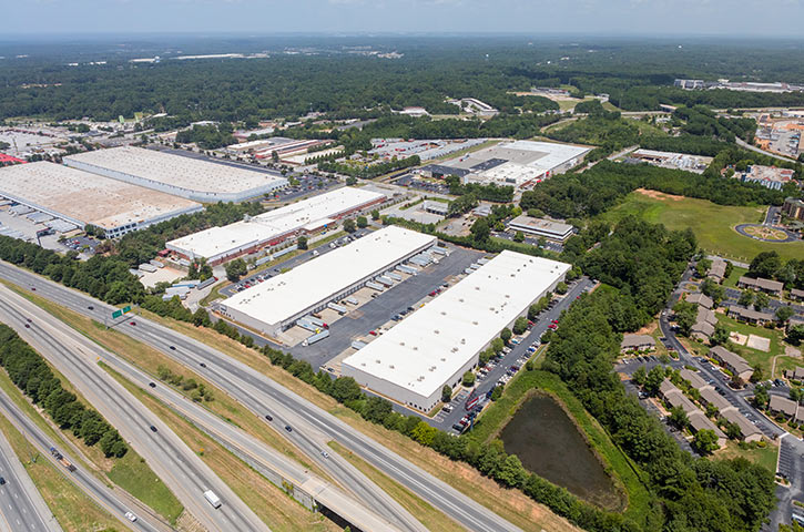 Aerial of Air Commerce Business Park in College Park, GA