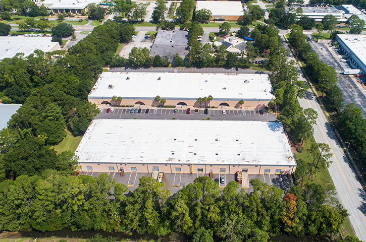Aerial of Bayberry 7970 & 7980 in Jacksonville, FL