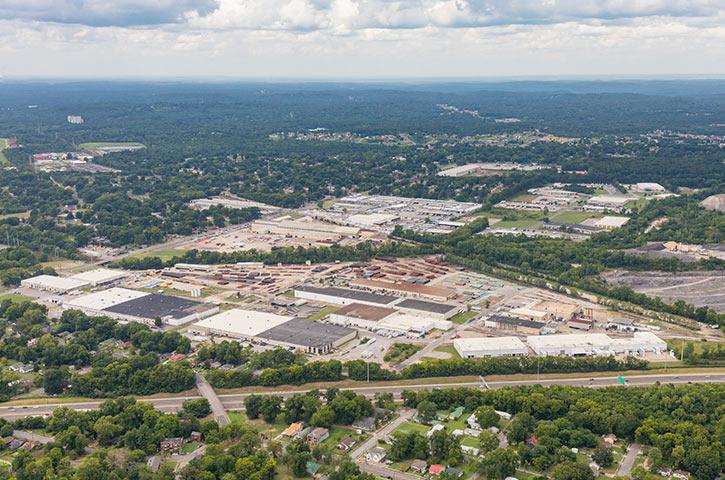 Aerial of BN Park in Birmingham, AL