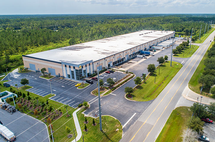 Aerial of First Coast Distribution Center in Jacksonville, FL