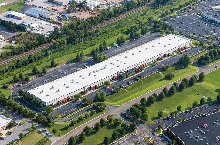 Aerial of Quality Circle in Huntsville, AL