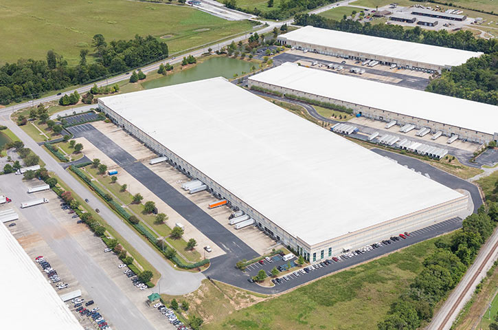 Aerial of Shelby Commerce Park Four in Birmingham, AL