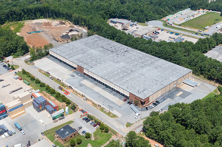 Aerial of Southern Road in Morrow, GA